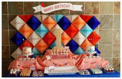 Twins 1st Birthday Dessert Table