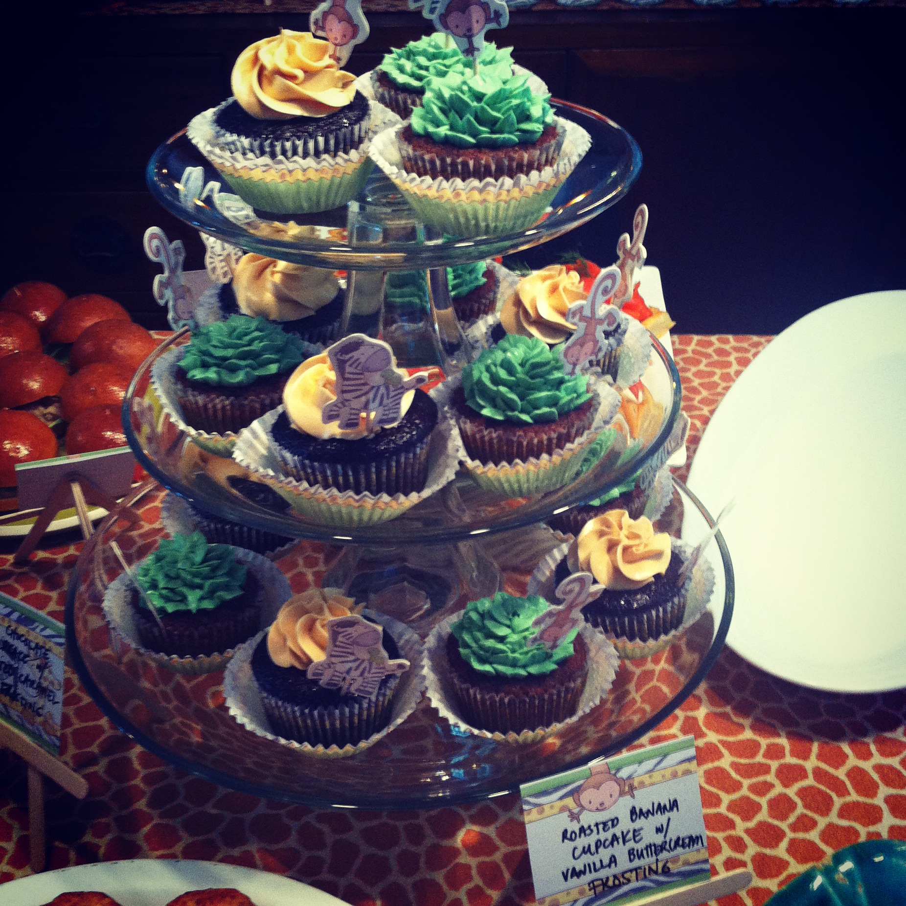 Safari Design Cupcakes