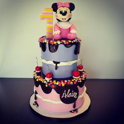 Baby Minnie 1st Birthday Cake