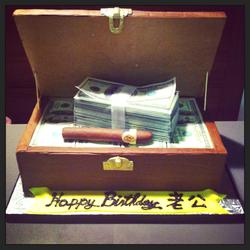 Cash & Cigar Cake