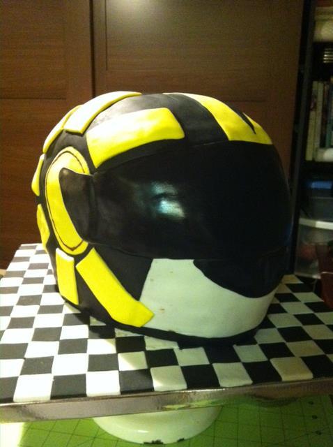Helmet Groom's Cake