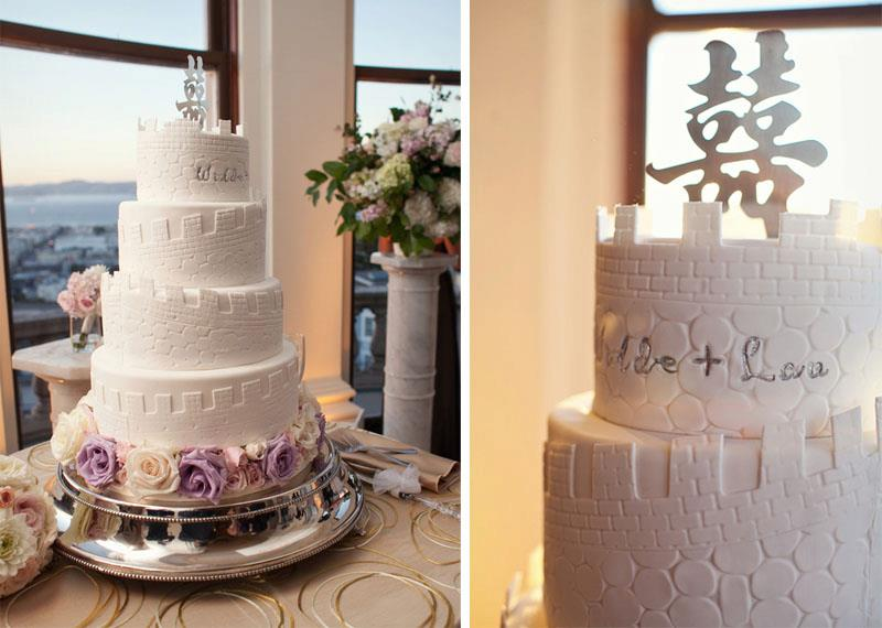 Great Wall of China Wedding Cake
