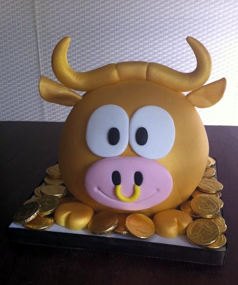 Golden Taurus Cake