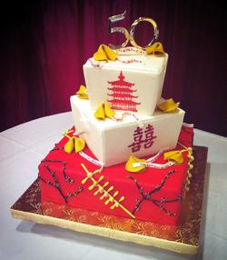 Happy 50th Anniversary Cake