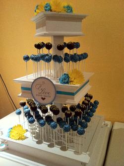 Cake Pop Wedding Tower