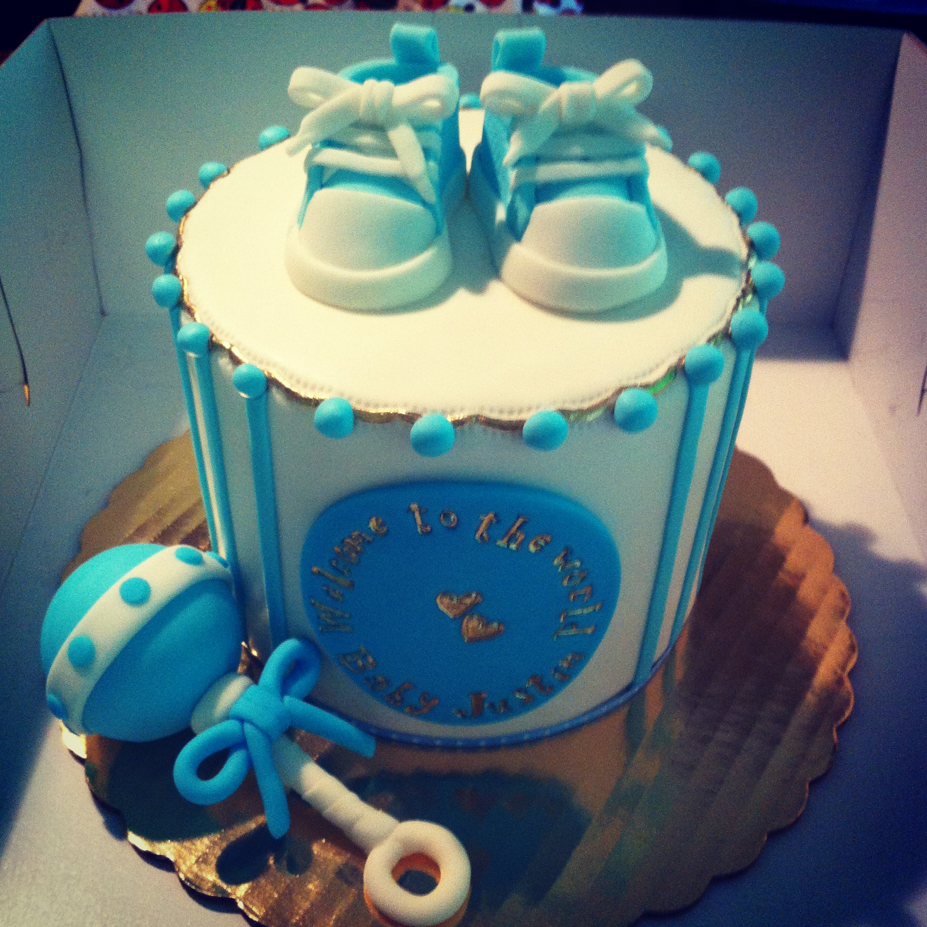 Baby Sneakers Shower Cake