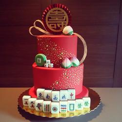 Mahjong Theme Birthday Cake