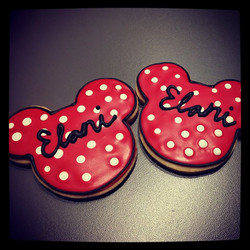 Minnie Inspired Cookies