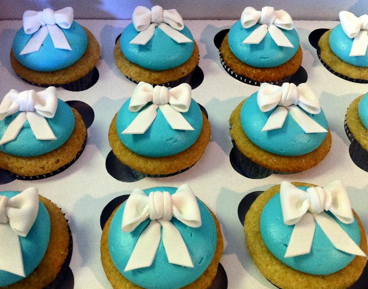 White Bows Cupcakes