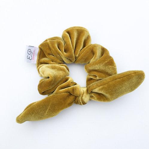 Mustard Velvet Scrunchie