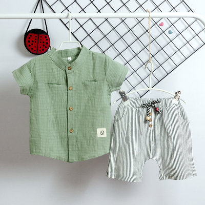 ბავშვის პერანგი და შორტები