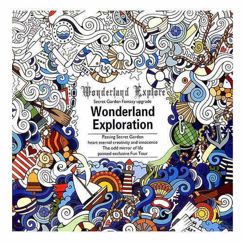 24 Pages Wonderland Exploration Antistress Adult Coloring Books