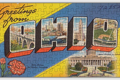 Ohio State Wooden Jigsaw Puzzle #6720