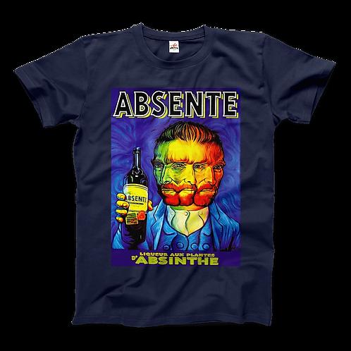 Absente, Vintage Absinthe Liquor Advertisement With Van Gogh T-Shirt