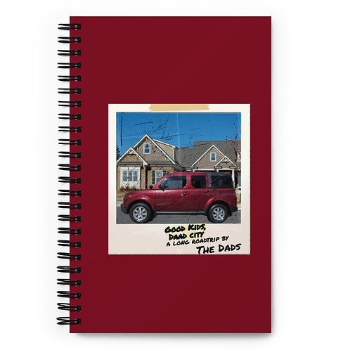 The Dads Good Kids Daad City Album Cover Spiral notebook
