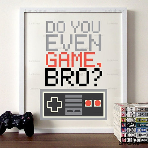 Gamer Controller Canvas Painting Wall Pictures