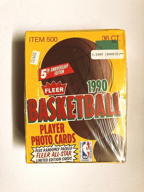 1990 Fleer Basketball Card Box