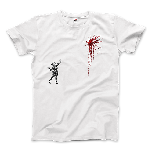 Banksy Valentines Day Mural Reproduction T-Shirt