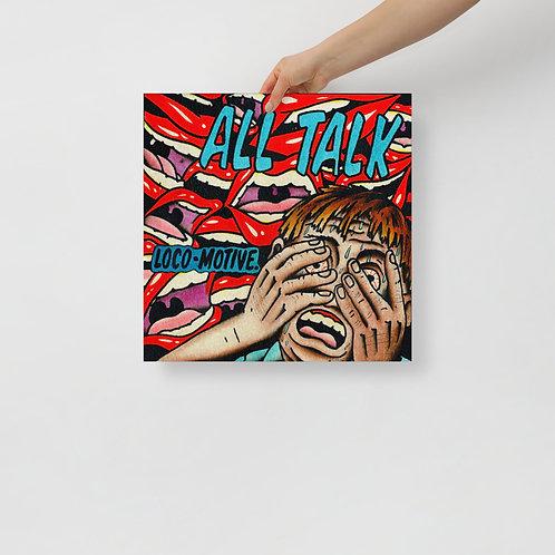 LOCO-MOTIVE ALL TALK Photo paper poster