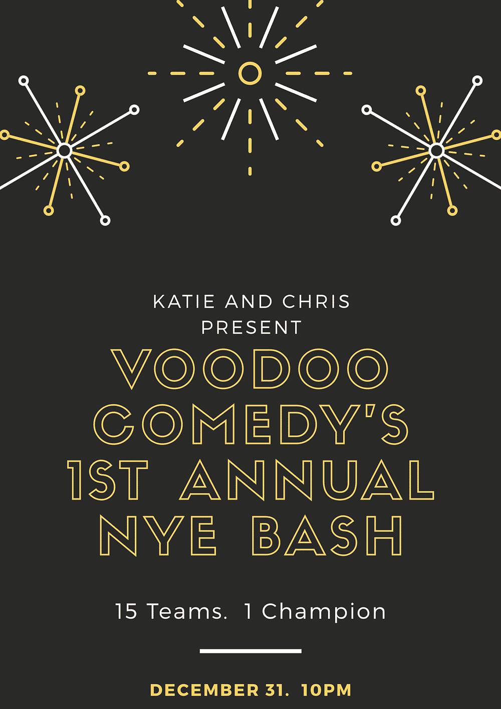 Voodoo Comedy's 1st Annual NYE Bash