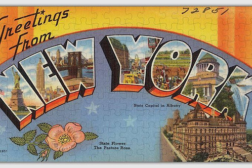 New York State Wooden Jigsaw Puzzle #6718