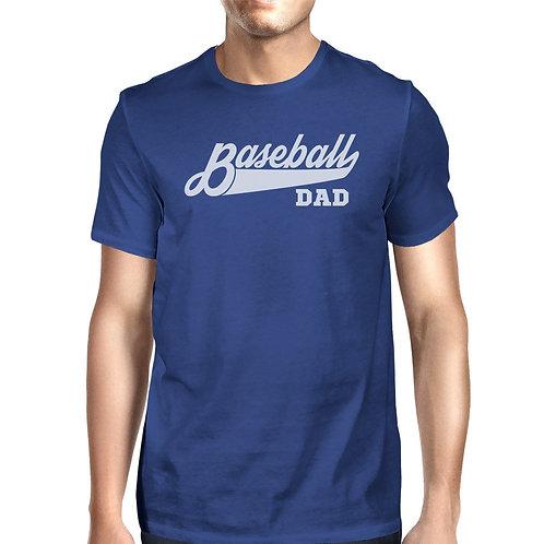 Baseball Dad Men's Funny Design Short Sleeve Top for Baseball Dad