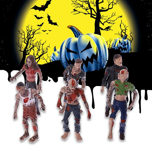 6Pcs Walking Corpses Model Terror Zombies Figurines