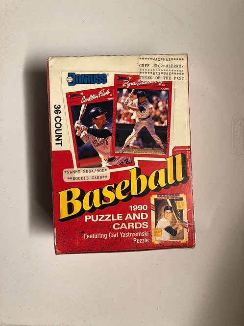 1990 Donruss baseball Cards and Puzzle