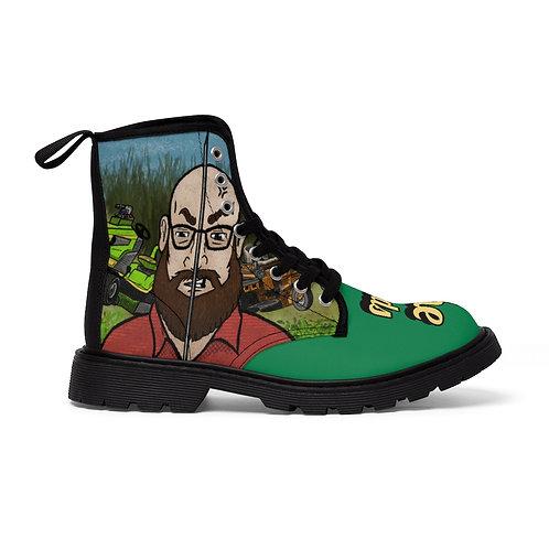 The Dad's Men's Canvas Boots (Dave Samson's Lawn Art)