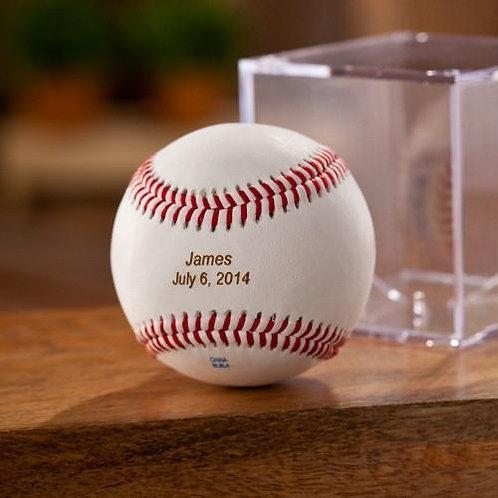Personalized Baseball W/Stand