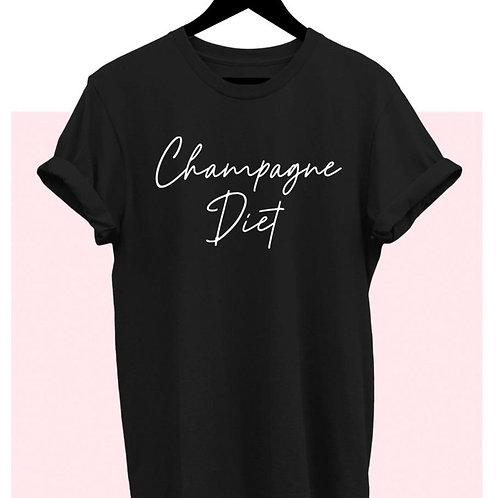 Champagne Diet Graphic T-Shirt