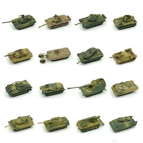 1pcs 1:72 4D Plastic Assemble Tank Kits World War II Model