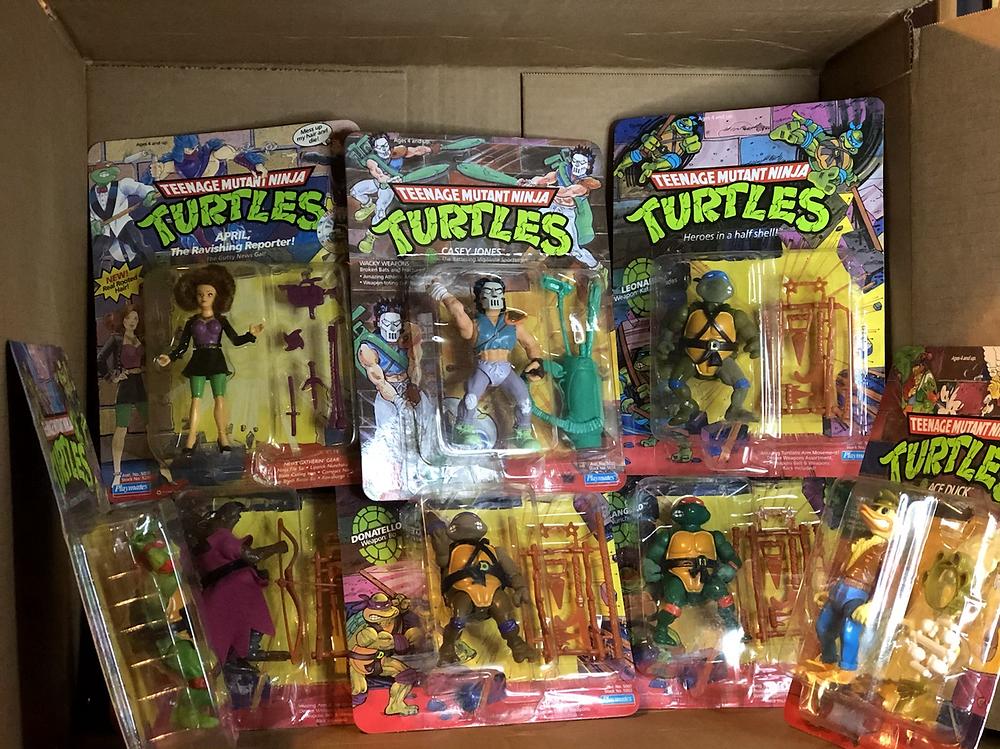 Teenage Mutant Ninja turtles unopened toys