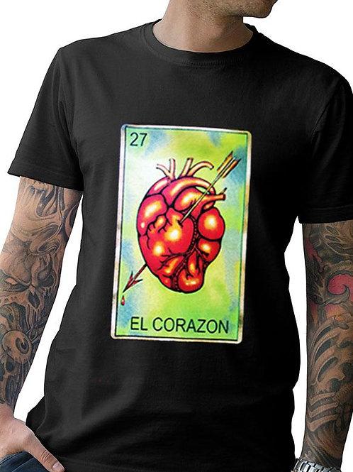 "Men's Soft Ringspun Cotton ""El Corazon"" Tee"