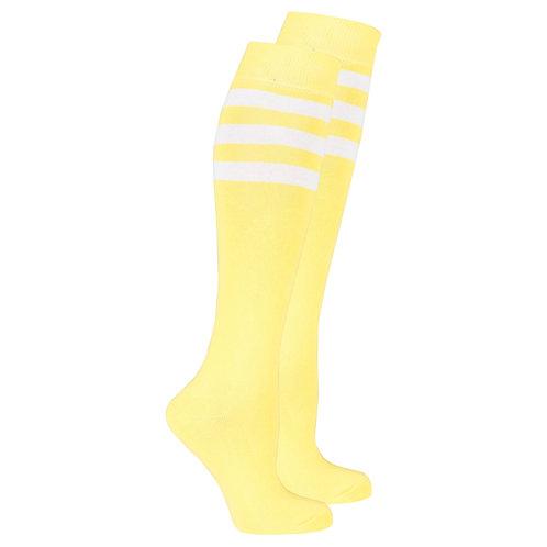 Women's Lemon Stripe Knee High Socks