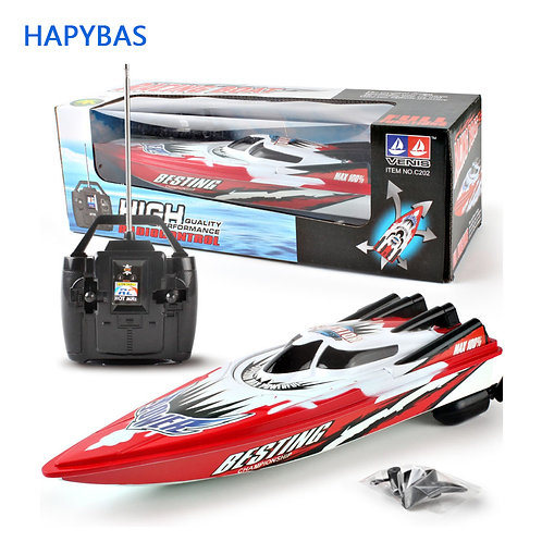 4 Channels RC Boats Plastic Electric Remote Control Speed Boat