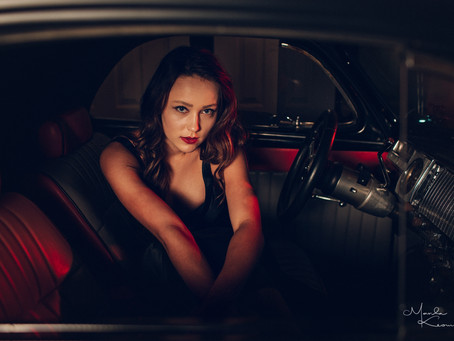 Gorgeous 40's Themed Shoot with 46' Pontiac