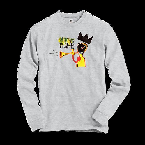 Jean-Michel Basquiat Trumpet 1984 Artwork Long Sleeve Shirt