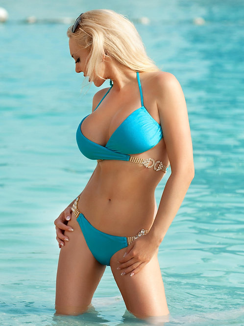 Gina Impressive Top & Skimpy Bottom - Turquoise