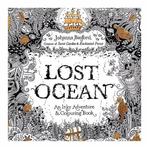 24 Pages Lost Ocean Antistress Adult Coloring Books