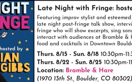 Boulder Fringe Festival Diary 1