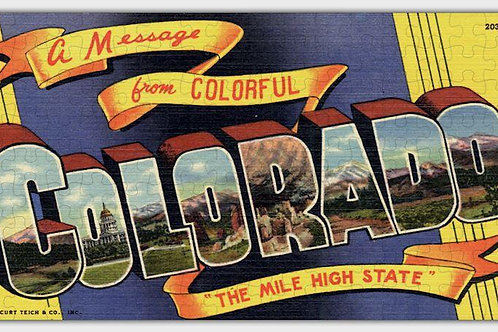 Colorado State Wooden Jigsaw Puzzle #6726
