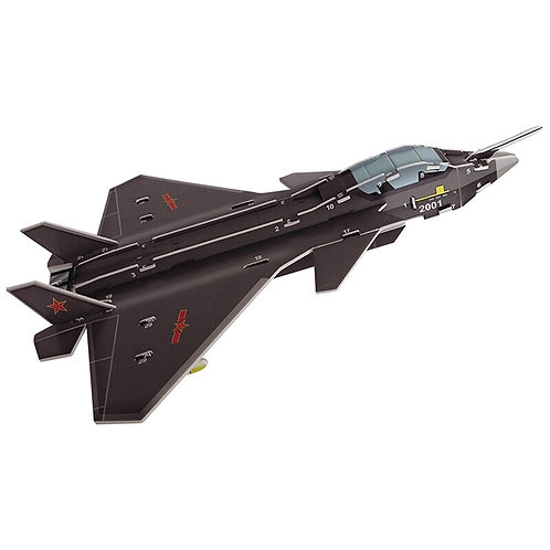 3D Puzzle Safe Foam Model Building Architecture Fighter Jet