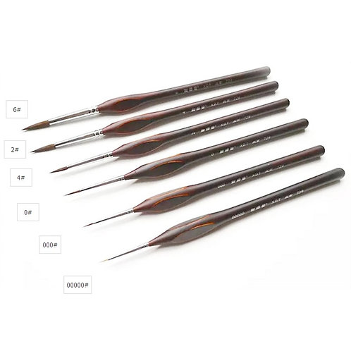 6pieces Pointed Painting Brush Outline Pen Combo for Model Building