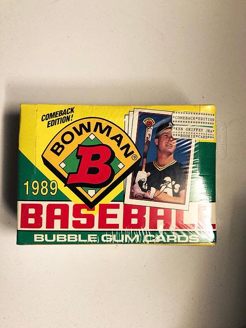 1989 Bowman Baseball Box
