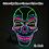 Thumbnail: Halloween Carnival Party Costume LED Mask Halloween Mask LED Mask