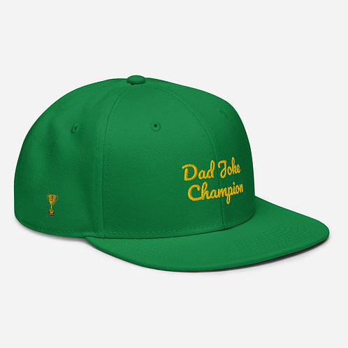 The Dads Dad Joke Champion Snapback Hat
