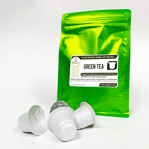 Green Tea Pods for Nespresso Brewers OriginalLine Compatible Capsules
