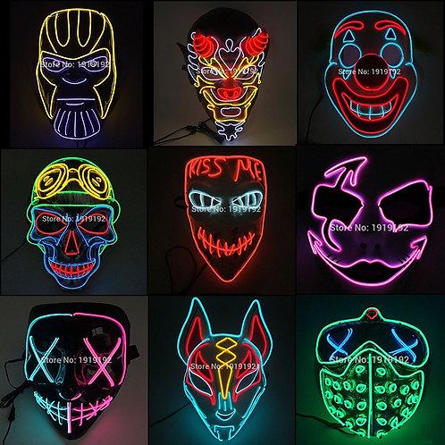 Halloween Carnival Party Costume LED Mask Halloween Mask LED Mask