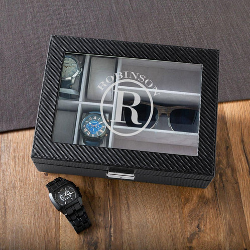 Personalized Watch Box & Sunglasses Box - Combo - Monogram